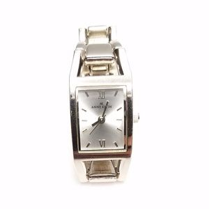 Ann Klein Elegant Silver Tone Rectangle Face Watch